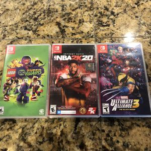 3 Nintendo Switch Games For $100. Or 1 For $40. for Sale in Prairieville, LA