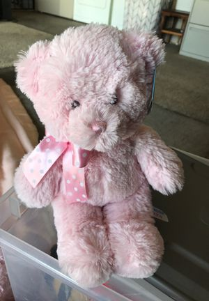 Pink bear stuffed animal $2.00 for Sale in Menifee, CA