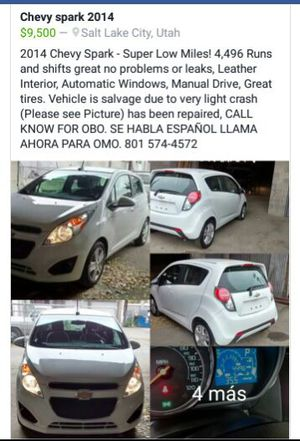 Chevy Spark 2014. $8,500 for Sale in Murray, UT