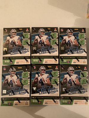 Lot of 6 2020 Absolute Football Blaster Boxes for Sale in Las Vegas, NV
