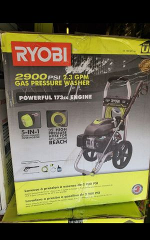 RYOBI 2900 PSI GAS PRESURE WASHER LIKE NEW for Sale in San Bernardino, CA