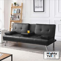 Obsidian Black Modern Futon (FREE DELIVERY) for Sale in Chicago,  IL