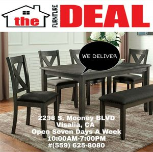 Table W/6-Chairs or Dining Bench for Sale in Visalia, CA