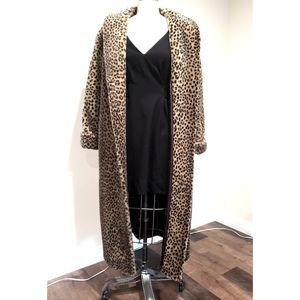 Leopard Faux Fur Long Coat for Sale in Los Angeles, CA