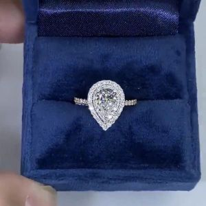 Stamped 925 Sterling Silver Tear Dropped shape/Engagement Ring/Highly Sparkling- Code E1090 for Sale in Dallas, TX