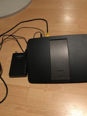 Linksys modem and router for Sale in Fresno, CA