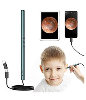 Earwax Remover Kit, Ear Camera Endoscope 1080P HD with 6 LED Lights for Kids Adults, Ear Scope with Ear Wax Cleaner for Android Mac Windows, with 5 R for Sale in El Monte, CA