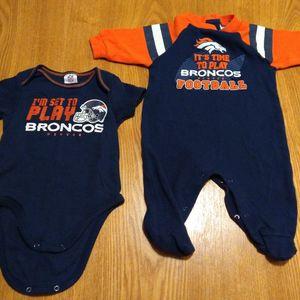 NFL Team Apparel. Denver Broncos. Size 0-3mo/3-6 for Sale in Wichita, KS