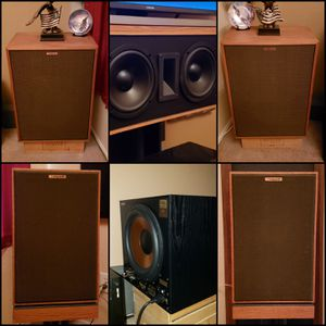 VINTAGE KLIPSCH 5.1 SURROUND SOUND SPEAKER SYSTEM 🎶🎼🎵👍👍 ‼👀>>PLEASE<<READ THE AD BEFORE REPLYING👀‼ for Sale in Maricopa, AZ
