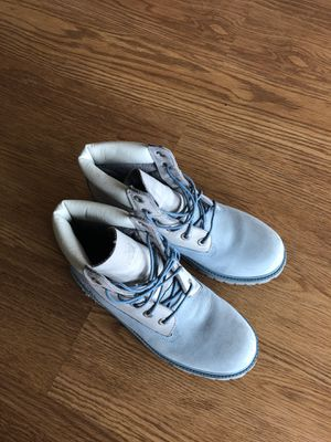 Timberland blue waterproof boots size 6 for Sale in Alexandria, VA