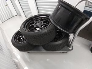 AODHAN RIMS 5X100 18X9 NEEDS TIRES N SOME WHEELS HAVE CURB RASH for Sale in Jersey City, NJ