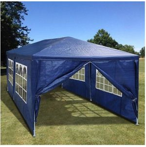 10'x20' Canopy Party BBQ Outdoor Canopy Party Waterproof Tent Blue Gazebo Pavilion W/6 Side Walls for Sale in Brentwood, CA