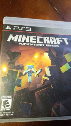 Minecraft PS3 edition for Sale in Eagle Lake, FL