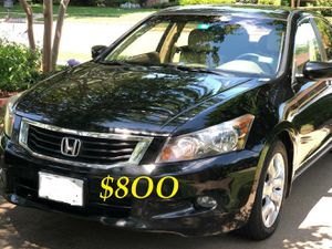 🍁🔥$8OO URGENT I sell my family car 2OO9 Honda Accord Sedan V6 EX-L 𝓹𝓸𝔀𝓮𝓻 𝓢𝓽𝓪𝓻𝓽 Runs and drives very smooth🍁🔥 for Sale in Seattle, WA