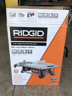 Ridgid 7 in. Table top wet tile saw R4021 for Sale in Ridgefield, WA