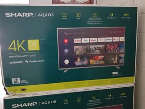 "58"" LED SMART 4K ULTRA HDTV BY sharp WITH HDR. BRAND NEW SEALED BOX for Sale in Los Angeles, CA"