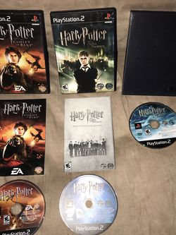 Harry Potter PS2 Lot 3 The Goblet of Fire Order of the Phoenix Half Blood Prince for Sale in Murrieta,  CA