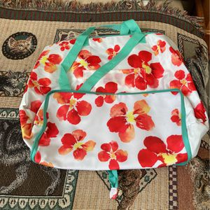 Flowered Foldable Tote Bag Can Be Put In Ur Purse for Sale in Lanham, MD