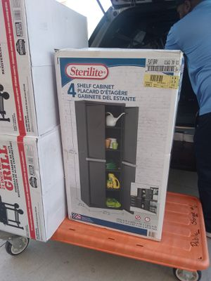 Sterlite 4-Shelf Storage Cabinet Flat Grey for Sale in Denver, CO