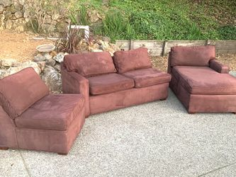 Pottery Barn Sectional Chaise Sofa Set : Free Delivery for Sale in Oakland,  CA