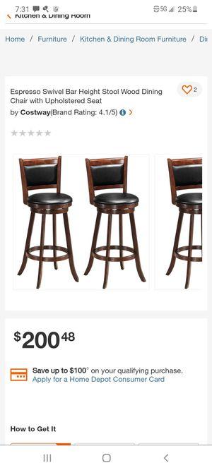 Set of 2 swivel upholstered bar stools for Sale in Hesperia, CA