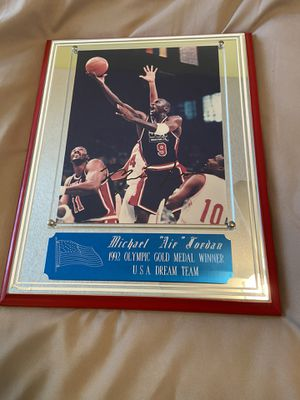 Michael Jordan 1992 Olympic dream team plaque hand signed for Sale in Margate, FL