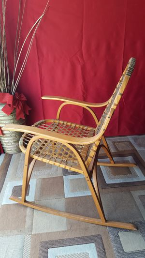 Vintage Snocraft Maple Rocking Chair With Rawhide By Vermont Tubbs Furniture for Sale in Pomona, CA