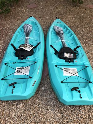 Kayak Daylite 8.5FT (New) Price for 2 kayaks weight Capacity 225LB each for Sale in Irvine, CA
