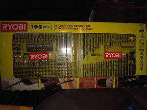 Ryobi 195pcs. DRILLING AND DRIVING KIT for Sale in Millersport, OH