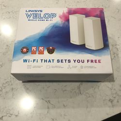 Linksys WHW0302 Velop Mesh Router (Tri-Band Home Mesh Wi-Fi System for Whole-Home Wi-Fi Mesh Network) 2-Pack, White for Sale in Camas,  WA