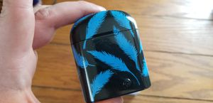 Custom Painted Blue Feather Air Pods for Sale in Pittsburgh, PA