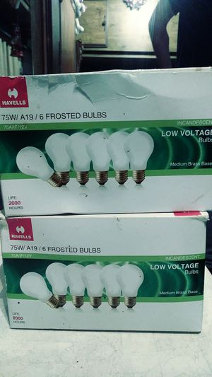 Havells 75watt 12volt two 6pack light bulbs for Sale in Marietta, GA