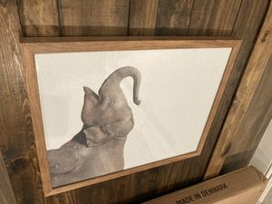 Wood and glass framed elephant art (Peoria) for Sale in Glendale, AZ