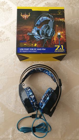 USB Computer Gaming Headset with Microphone for Sale in Huntersville, NC