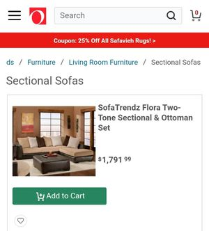 Sectional with ottoman for Sale in Thomasville, NC