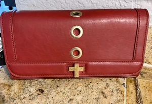 INC RED PURSE DETACHABLE GOLD CHAIN for Sale in North Palm Beach, FL
