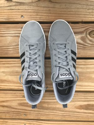 ADIDAS Mens Grey Shows with Black stripes Trainers SIZE: 12 for Sale in Ocean View, DE