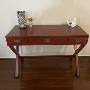 RED Campaign writing desk with three drawers - Sold In Stores For $150 for Sale in Santa Ana, CA