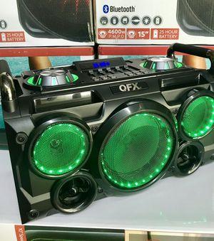 Speaker Bluetooth,radio,karaoke,Recargable para la playa😎,USB,AUX,ecualizador,luz LD for Sale in Hialeah, FL