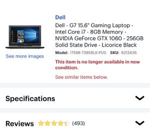 Dell G7 Gaming Laptop included 2TBExternal HardDrive,Mouse,Keyboard and Cooling Pad for Sale in Madera, CA
