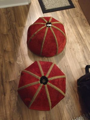 Vintage red velor lamp shades for Sale in Anaheim, CA