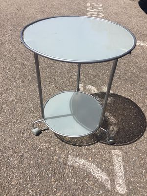 Frosted glass side table for Sale in Austin, TX