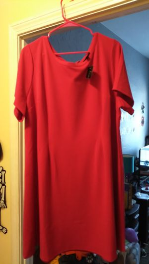 22/24 plain pink/red dress brand new for Sale in Saugus, MA