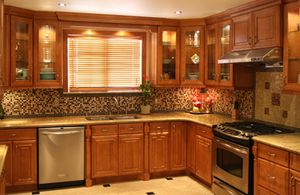 All wood coffee kitchen cabinets for Sale in Miami, FL