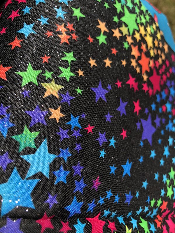Rainbow Stars with Glitter Fabric
