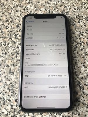 Unlocked iPhone 11 - 64gb - work with any carrier - little chip on the back. for Sale in Landover, MD