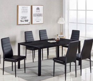 Furniture dining table 6 chairs finance available 1486 West Buckingham RD Garland, TX 75042 for Sale in Garland, TX