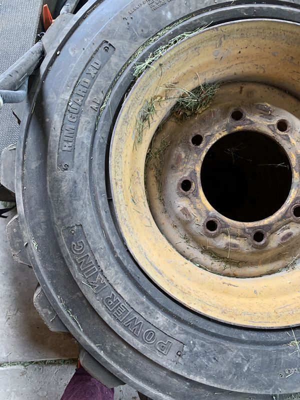 Caterpillar tires for a skid steer. 100 dollars each