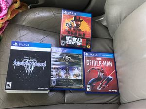 KH3 deluxe edition , Kingdom hearts The story so far, red dead 2, and marvel Spider-Man for Sale in Santa Fe Springs, CA