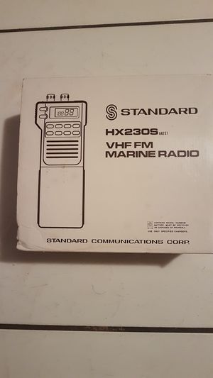 Standard horizon VHF/FM MARINE TRANSCEIVER HX230S for Sale in West Palm Beach, FL
